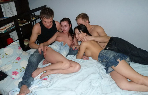 YoungSexParties - Angella, Elena, Igor & Kostya - From reading to fucking [HD 720p]