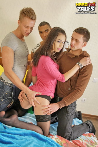Marya - HardFuckTales|HardFuckGirls - Group sex video with three strangers (2011/HD/1.73 GiB)