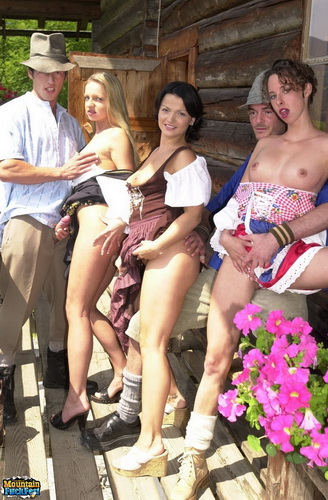 MountainFuckFest.com - Three sexy babes make male tourists feel like in heaven