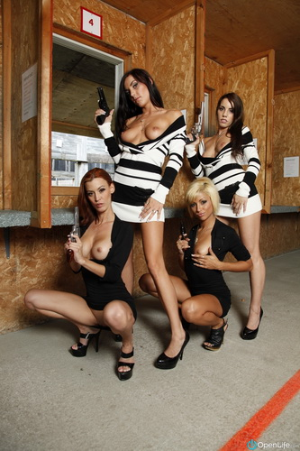 OpenLife - Shana Lane, Roxy Lane, Amy Lee, Nikki Lips - Loaded Guns [HD 1080p]