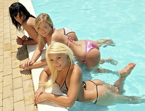 Lana, Sunny Diamond, Naomi - EuroSexParties - Pool Sex (2012/SD/537Mb)