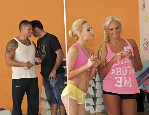 Aleska Diamond, Sabby, Ivana Sugar - EuroSexParties - Yoga love (2012/SD/341Mb)
