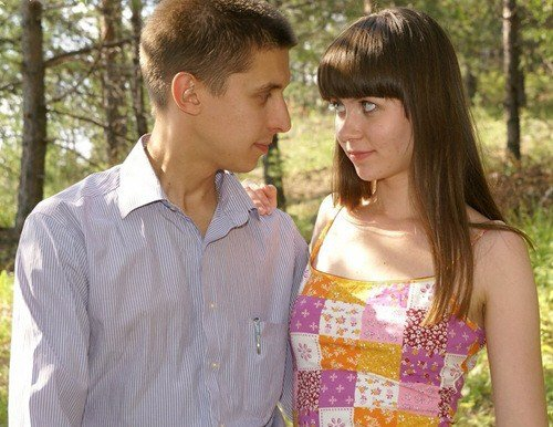 Claudia - MyTeenVideo - Amateur teen couple has outdoor sex in the forest (2009/SD/724Mb)